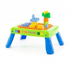Детский  игровой набор  с конструктором (20 элементов) в коробке (зелёный)  арт. 57983 Полесье