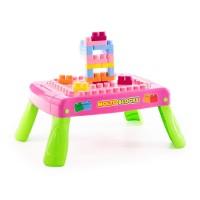 Детский набор игровой с конструктором (20 элементов) в коробке (розовый) арт. 58003 Полесье