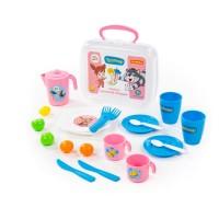 """Набор игрушечной посуды """"Простоквашино"""" (21 элемент) (в чемоданчике) арт. 85436 Полесье"""