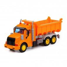 """Детская инерционная машинка арт. 86297 (оранжевая). Автомобиль-самосвал """"Профи"""" (в коробке). Световые и звуковые эффекты."""
