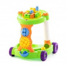 Детская игрушка каталка с конструктором (Ходунки) (13 элементов) в коробке (зелёная) арт. 58133 Полесье в Минске