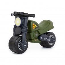 """Детская игрушка каталка-мотоцикл """"Моторбайк"""" военный (РБ) арт. 49308 ПОЛЕСЬЕ"""