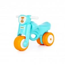 "Детская игрушка каталка-мотоцикл ""Мини-мото"" сафари (голубая) арт. 90324 ПОЛЕСЬЕ"