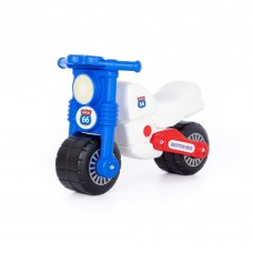 """Детская игрушка каталка-мотоцикл """"Моторбайк"""" (бело-синий) арт. 90324 ПОЛЕСЬЕ"""