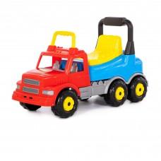 """Детская игрушка Каталка-автомобиль """"Буран"""" №2 (красно-голубая) арт. 43801 Полесье"""