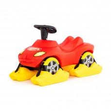 """Детская игрушка Снегоход каталка-автомобиль """"Пожарная команда"""" со звуковым сигналом арт. 44594 Полесье"""