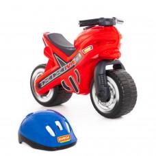 """Детская игрушка каталка-мотоцикл """"МХ"""" со шлемом арт. 46765 ПОЛЕСЬЕ"""