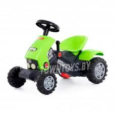 """Детская игрушка каталка-трактор с педалями """"""""Turbo-2"""" (зелёная) арт. 52735 ПОЛЕСЬЕ"""