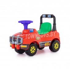 Детская игрушка машинка-каталка Джип - №2 (красный)  со звуковым сигналом арт. 62857 ПОЛЕСЬЕ