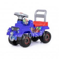 """Детская игрушка машинка-каталка джип Marvel """"Мстители"""" арт. 78711 ПОЛЕСЬЕ"""