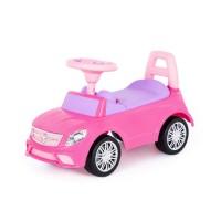 """Детская машинка-каталка """"SuperCar"""" №3 со звуковым сигналом (розовая) арт. 84491 Полесье"""
