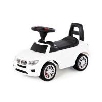 """Детская игрушка Каталка-автомобиль """"SuperCar"""" №5 со звуковым сигналом (белая) арт. 84538 Полесье"""