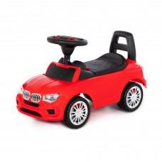 """Детская игрушка Каталка-автомобиль """"SuperCar"""" №5 со звуковым сигналом (красная) арт. 84583 Полесье"""