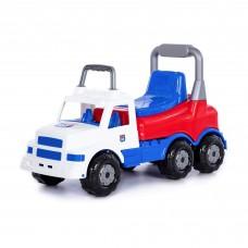 """Детская игрушка Каталка-автомобиль """"Буран"""" №1 (бело-синяя) арт. 90348 Полесье"""