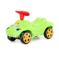 """Детская машинка-каталка """"Мой любимый автомобиль"""" со звуковым сигналом (зелёная) арт. 44617 Полесье"""
