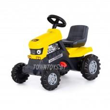 """Детская игрушка каталка-трактор с педалями """"Turbo"""" арт. 89311 ПОЛЕСЬЕ (жёлтая)"""