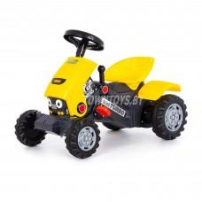 """Детская игрушка каталка-трактор с педалями """"""""Turbo-2"""" (жёлтая) арт. 89335 ПОЛЕСЬЕ"""