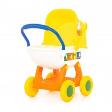"""Детская игрушка коляска для кукол  """"Миффи"""" 4-х колёсная (в пакете) арт. 64608 Полесье"""