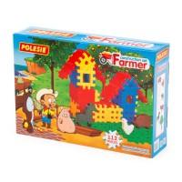 """Детский  Конструктор """"Фермер"""" (112 элементов) (в подарочной коробке)  арт.4864. Полесье"""