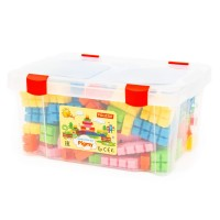 """Детская игрушка Конструктор """"Малютка""""  (182 элемента) (в контейнере) арт. 50618 Полесье"""