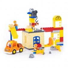 """Детская игрушка конструктор """"Макси"""" - """"Строительная фирма"""" (66 элементов) (в коробке) арт. 77615 ПОЛЕСЬЕ"""