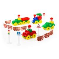 """Детская игрушка Конструктор """"Юный путешественник"""" (54 элемента) (в пакете) арт. 52452 Полесье"""