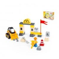 """Конструктор """"Макси"""" - """"Строительная фирма"""" (36 элементов) (в коробке). Совместим с Лего Дупло (LEGO Duplo). Полесье. Арт. 77622"""