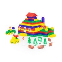 """Детская игрушка Конструктор """"Строитель"""" (454 элемента) (в пакете) арт. 52575 Полесье"""