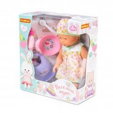 """Детская игрушка Пупс """"Весёлый"""" (35 см) с соской + набор для кормления (4 элемента) (в коробке) 78377 Полесье"""