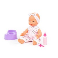 """Детская игрушка Пупс """"Весёлый"""" (35 см) с соской, бутылочкой и горшком (в пакете) арт. 86747 Полесье"""