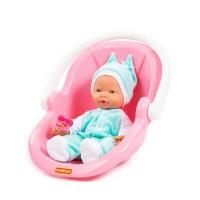 """Детская игрушка Пупс """"Весёлый"""" (35 см) с соской и переноской (в пакете) арт. 86761 Полесье"""