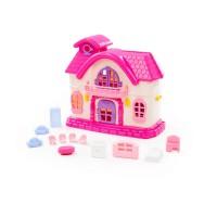 """Детская игрушка кукольный домик """"Сказка"""" с набором мебели (12 элементов) (в пакете) арт. 78261 Полесье"""