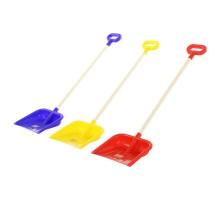 Детская игрушка Лопата для снега №25 (деревянный черенок с ручкой, длина - 84,4 см) арт. 41869 Полесье