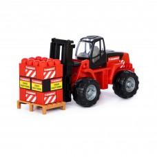 """Детская игрушка автокар """"MAMMOET""""  автокар+ конструктор (15 элементов) (в сеточке) арт. 62734 Полесье"""