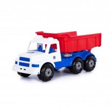 """Детская игрушка """"Буран"""" №3, автомобиль-самосвал (бело-синий) арт.90355"""