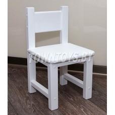 Детский деревянный стульчик арт. SDW27. Высота до сиденья 27 см. БЕЛЫЙ.