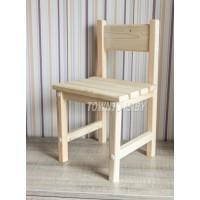 Детский деревянный стульчик арт. SDRN-34 (БОЛЬШОЙ). Высота до сиденья 34 см. Цвет натуральное дерево.