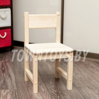 Детский деревянный стульчик маленький арт. SDN23. Высота до сиденья 23 см. Цвет натуральное дерево.