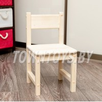 Детский деревянный стульчик арт. SDN27. Высота до сиденья 27 см. Цвет натуральное дерево.