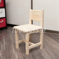 Детский деревянный стульчик арт. SDN29 (БОЛЬШОЙ ). Высота до сиденья 29 см. Цвет натуральное дерево.