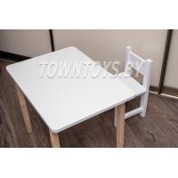 Детский деревянный столик и стульчик арт. SLN705050-SDW-27. Столешница 700х500 мм.