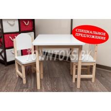 Детский столик и два стульчика арт. SLN-705050+2SDLN-27. Столешница 700х500 мм.