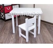 Комплект столик и стульчик для детей со скругленными углами арт. SLW-705050+SDW-27 (столешница – ламинированная ДСП)