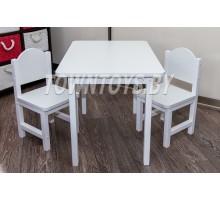 Детский комплект столик и 2 стульчика со скругленными углами арт. SLW-705050+2SDLW-27 (столешница – ламинированная ДСП)