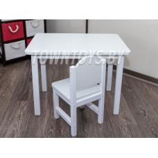 Детский комплект столик и стульчик для детей со скругленными углами арт. SLW-705050+SDLW-27 (столешница – ламинированная ДСП)