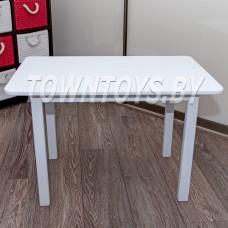 Детский столик из массива БОЛЬШОЙ (50Х80см) со скругленными углами арт. SDNYW-805052. БЕЛЫЙ.
