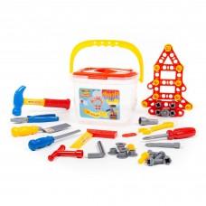Детский игрушечный набор инструментов №1 (72 элемента) (в ведёрке) арт. 47151 Полесье