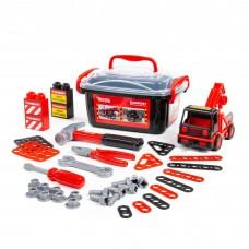 """Детский игровой набор для мальчика """"MAMMOET"""" 214-01. Автомобиль-эвакуатор, конструкторский набор (36 элементов) (в контейнере) арт. 57136"""