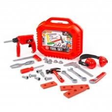 Детский игрушечный набор инструментов №18 (27 элементов) (в чемоданчике) арт. 89441 Полесье
