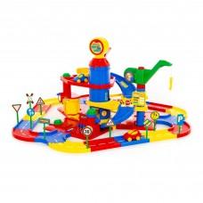 Детская игрушка для мальчиков паркинг 3-уровневый с дорогой и автомобилями (в коробке) арт. 37862 ПОЛЕСЬЕ в Минске